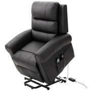HOMCOM Heated Vibrating Massage Recliner Power Lift Chair with Remote