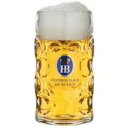 Hofbrauhaus Munchen Munich German Glass Dimple Beer Mug .5L Germany by Beer Mugs