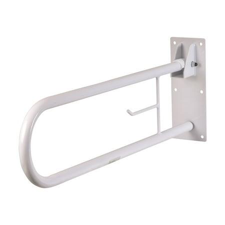 "HealthSmart Fold-Away Grab Bar, White, Steel, 7"" x 4"" x 30"""