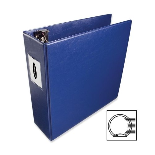 "36449NBL Wilson Jones DublLock Round Ring Binder 3"" Binder Capacity Letter 8.50"" Width x 11""... by Wilson Jones"