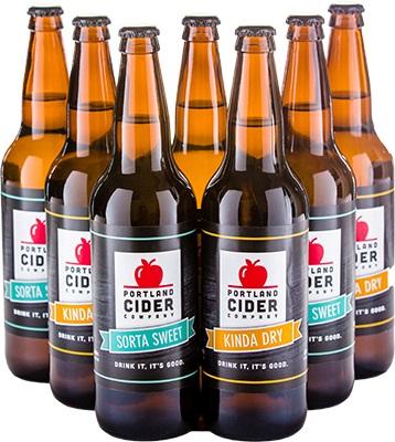 PORTLAND CIDER COMPANY Portland Hard Apple Cider, 4 pack, 16 fl oz Can
