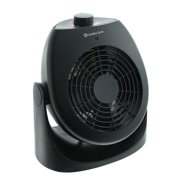 Comfort Zone House Fan and Portable Space Heater Combo, Black