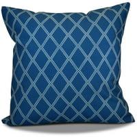 "Simply Daisy 16"" x 16"" Diamond Dots Geometric Print Outdoor Pillow"