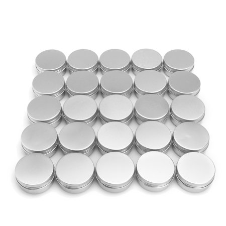 Small Metal Tins (Aimeeli 1.8 oz Metal Tin Can Round Empty Container Can Storage with Lip for Favors, Spices, Balms, Gels, Candles, Gifts, Storage 24)