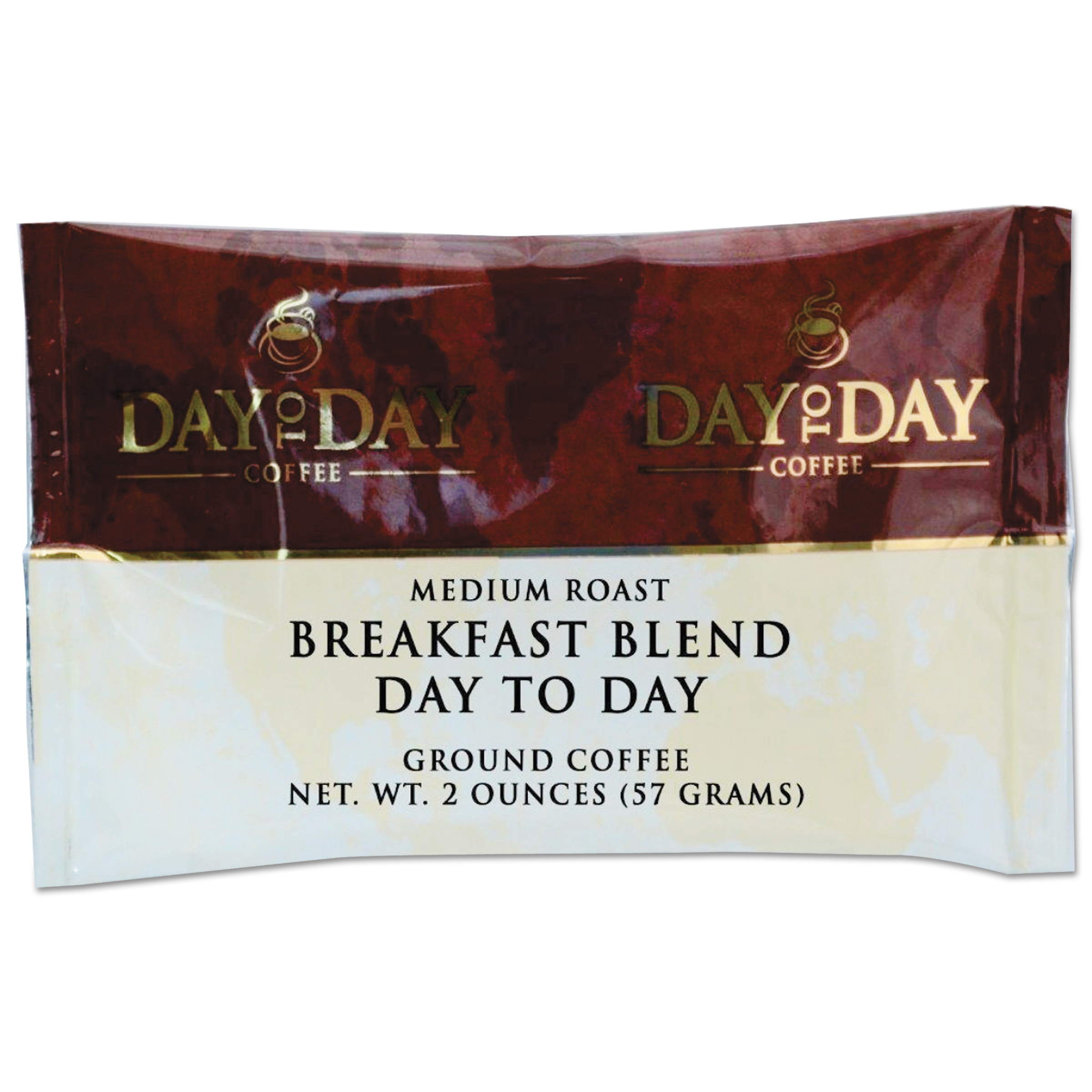 Day to Day Coffee 100% Pure Coffee, Breakfast Blend, 2 oz Pack, 42/Carton