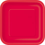 Square Paper Plates, 9 in, Light Blue, 14ct