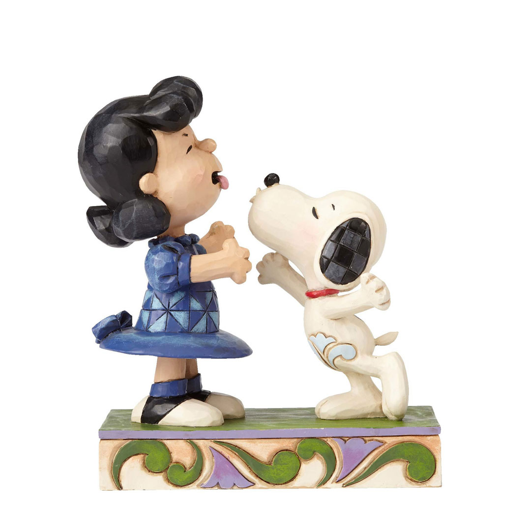Jim Shore Peanuts Snoopy Kissing Lucy  4055941 New 2016