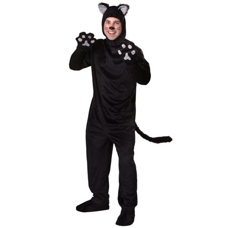 Adult Black Cat Costume - Black Cat Kigurumi
