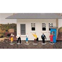 Bachmann 42332 HO Standing People Figures (6)