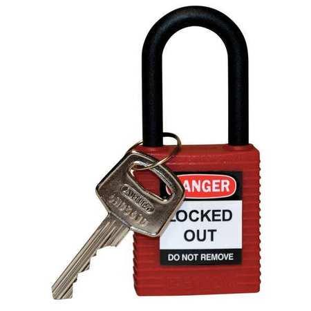 "Lockout Padlock,KD,Red,1-3/4""H BRADY 123324"