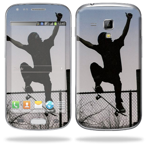 Mightyskins Protective Skin Decal Cover for Samsung Galaxy S Duos S7562 Cell Phone wrap sticker skins Skater
