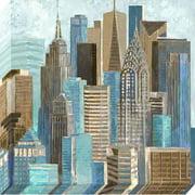 Pinnacle 36x36 A Walk in the City Canvas Art