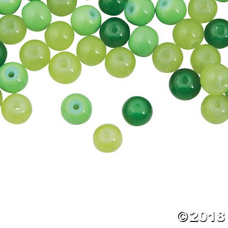 St. Patrick's Day Green Bead Assortment - 8mm](St Patrick's Day Beads)
