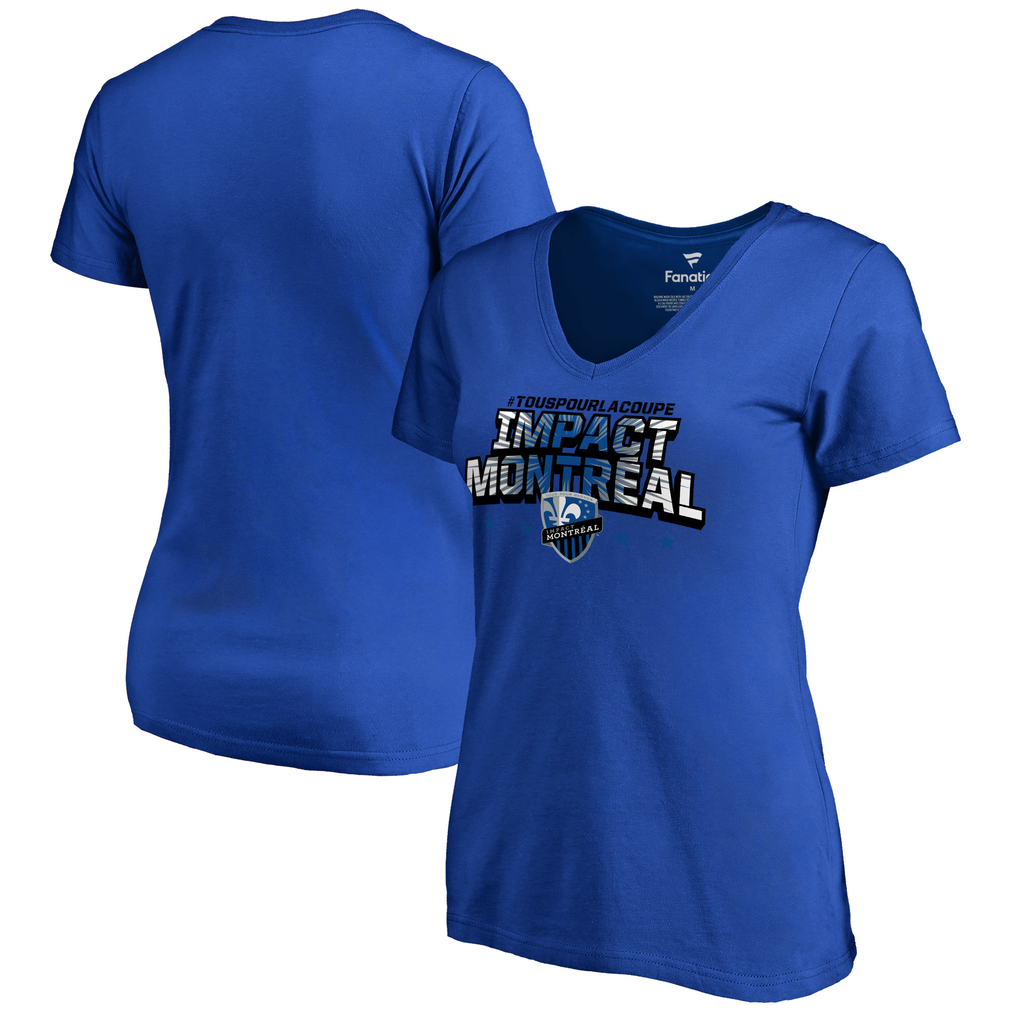 Montreal Impact Fanatics Branded Women's Hometown Collection LaCoupe V-Neck T-Shirt - Royal