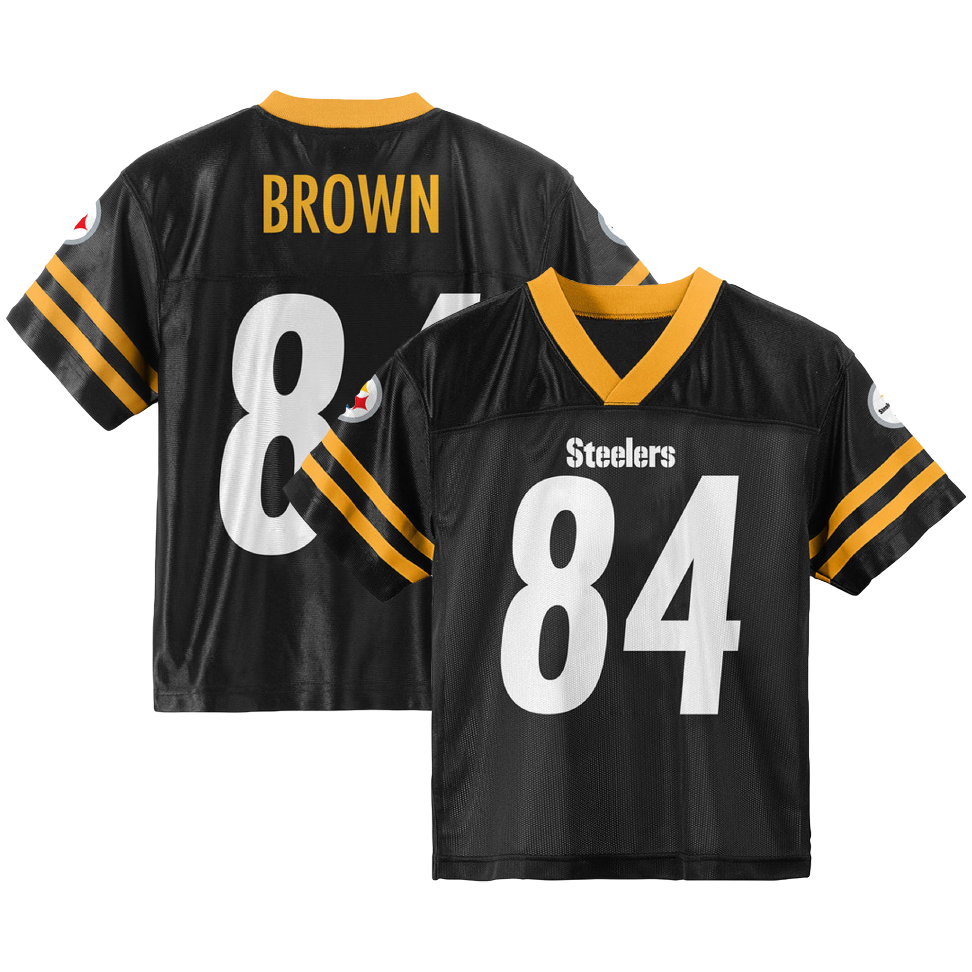 hot sale online a4c4f 7ac80 Toddler Antonio Brown Black Pittsburgh Steelers Team Color Jersey