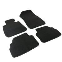 Spec-D Tuning 2007-2013 Bmw E92 3-Series Car Floor Mats Carpet Rubber Backing Black Cotton Front + Rear 07 08 09 10 11 12 13