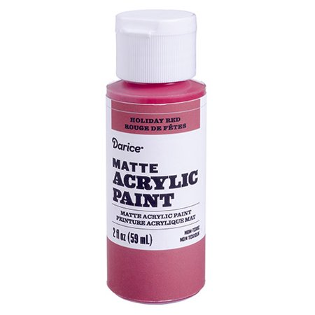 Coat upside down terra cotta pots in this matte acrylic paint. Its cheery holiday red color and a pom pom on the top make cute Santa (Amazing Painter Paints A Face Upside Down)