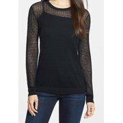 Classiques Entier NEW Black Women's Size Large L Sheer Open Knit Top $168