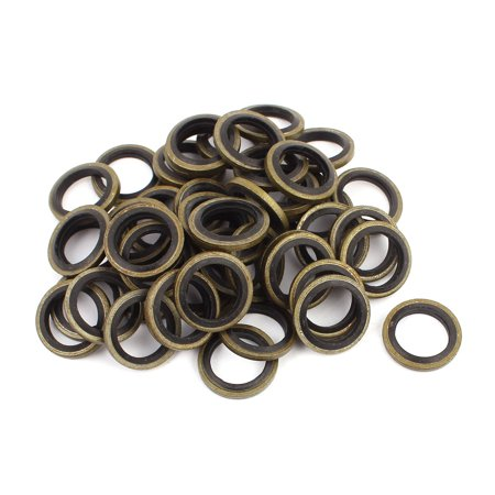 50pcs 12mmx18mm Rubber Metal Combination Ring Resistant Oil Sealing Ring Gasket - image 2 of 2