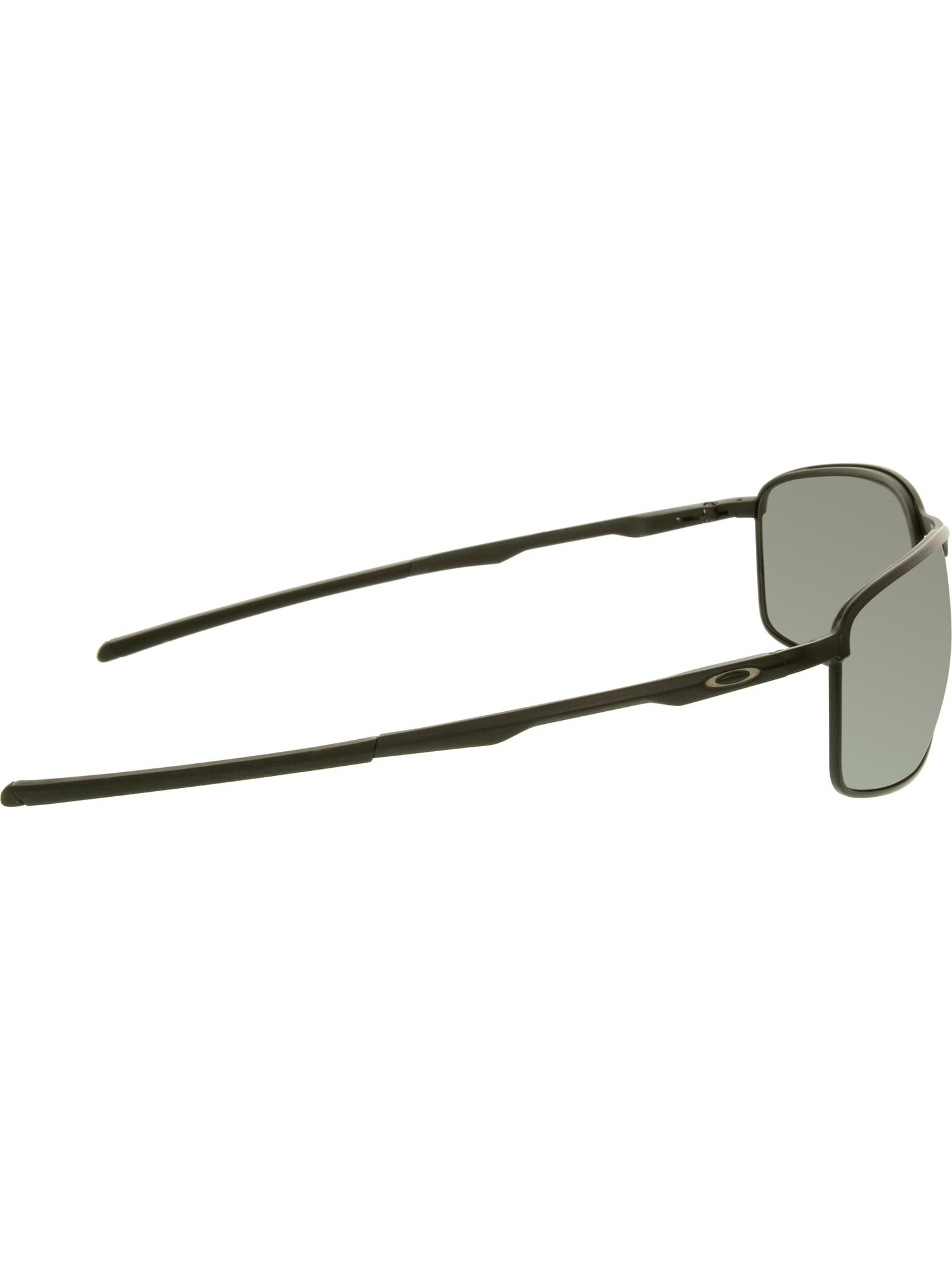 380e0d88e38 Oakley Men s Polarized Conductor 8 OO4107-02 Black Rectangle Sunglasses