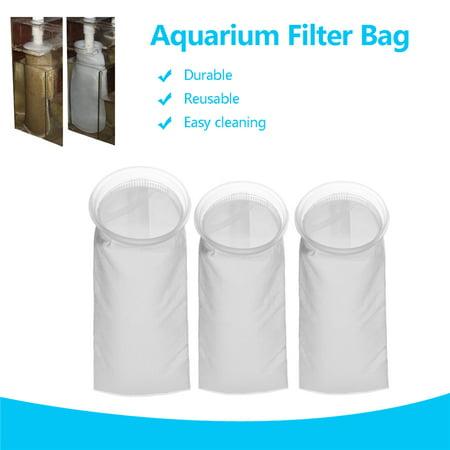 25-75μm Aquarium Fish Tank Filter Sump Felt Sock Mesh Net Bag Micron Replacement New