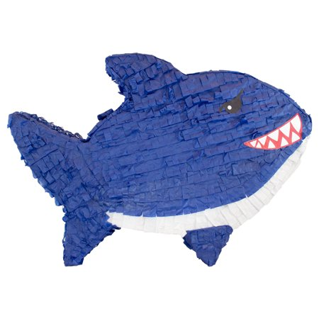Shark Party Pinata, Dark Blue, Hand Crafted w/ Traditional Techniques