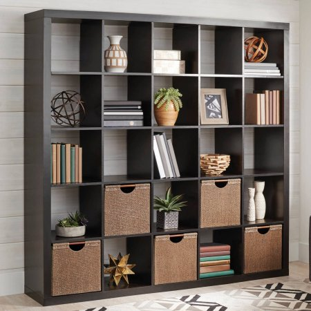 Better homes and gardens 25 cube organizer room divider - Room divider with storage ...