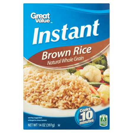 Great Value Instant Brown Rice  14 Oz