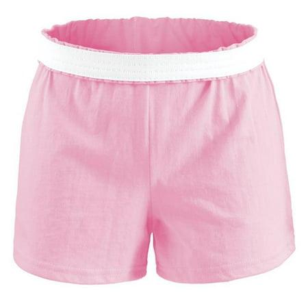 Kids Ash (Juniors  Ath Short V-Notch Side Seam 50C by 50, Soft Pink - Extra)
