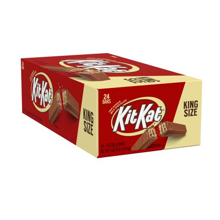 Kit Kat Crisp Wafers In Milk Chocolate Candy Bar King Size, 3 Oz.
