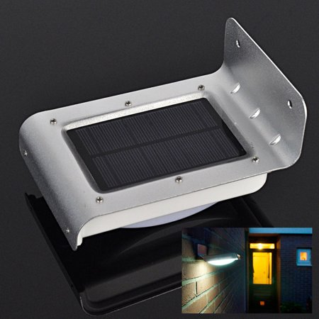 Pir Sensor Light (Ktaxon 16-LED Solar Powered PIR Motion Sensor Garden Security Light Wall Lamp Outdoor)
