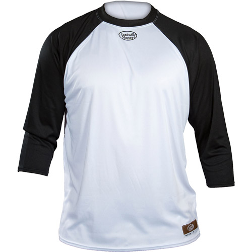 Louisville Slugger Youth Slugger Loose-Fit 3/4-Sleeve Shirt, White/Black