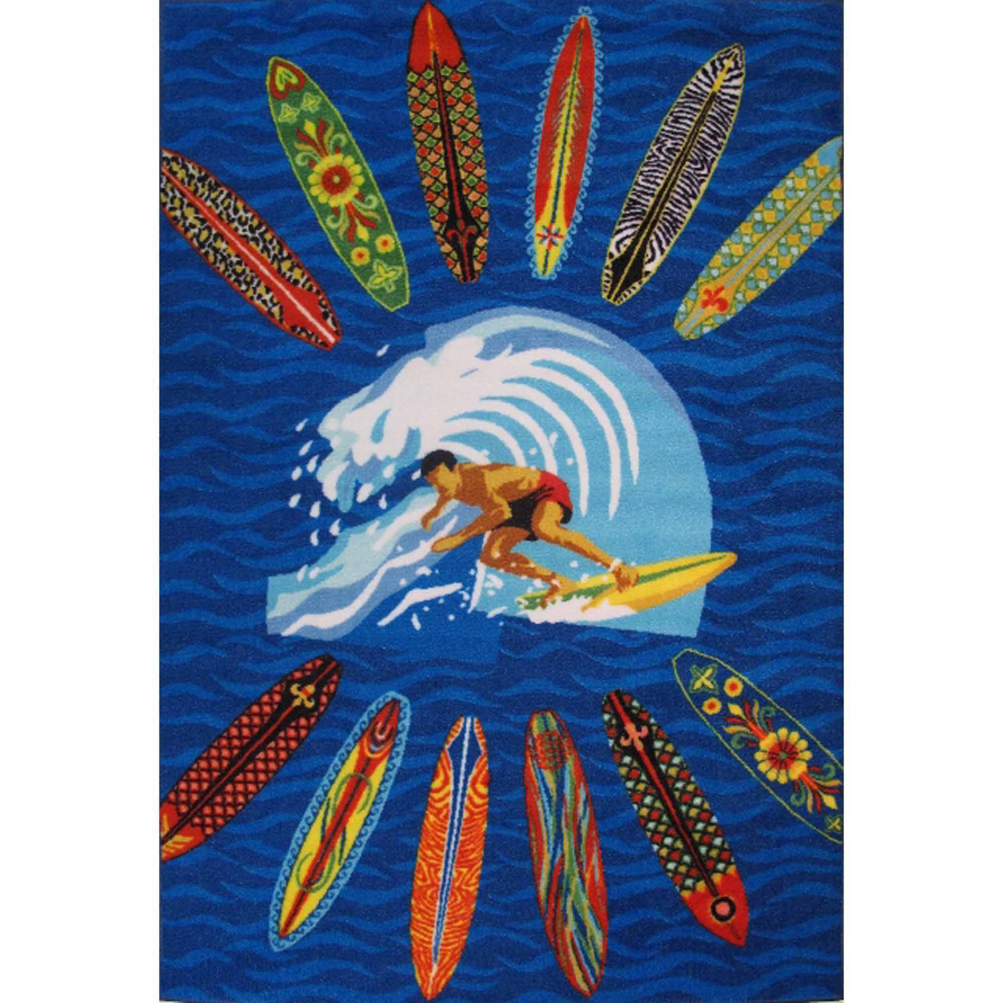 Fun Rugs Surfer Dude Kids Rugs