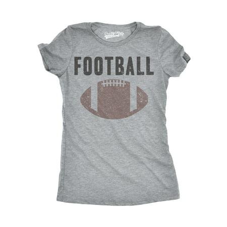 Crazy Dog T-shirts Womens Vintage Football Text T shirt