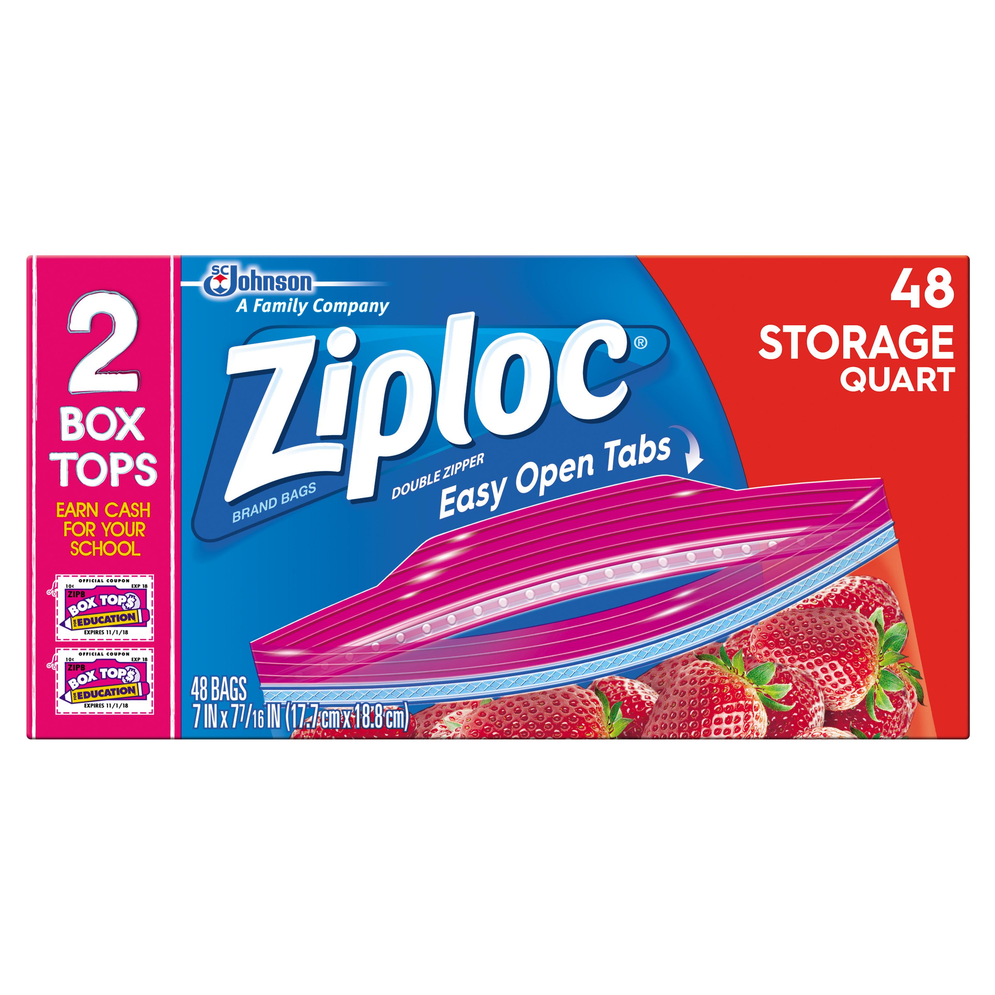 Ziploc, Storage Bag, Quart, Value Pack, 48 ct