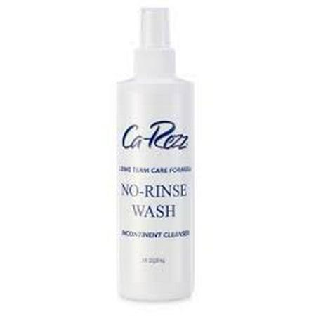 Carezz No-Rinse Incontinence Cleanser Liquid  8 oz. Pump Bottle Scented EA/1 Incontinent Cleanser 8 Oz Bottle