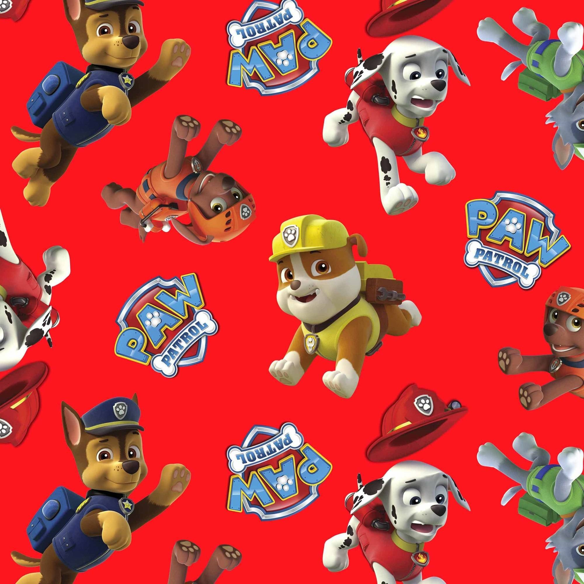 "Nickelodeon Cotton 44"" Paw Patrol Toss Fabric, per Yard"
