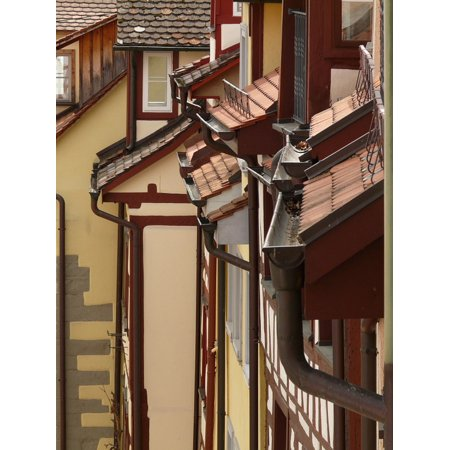 Canvas Print Roofs Facades City Homes Building Gable Stretched Canvas 10 x 14