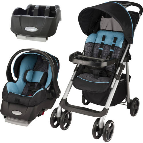 Evenflo Vive Sport Travel System, Koi, with BONUS Car Seat Base