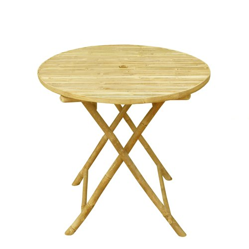 Bay Isle Home Lefka Round Folding Dining Table by