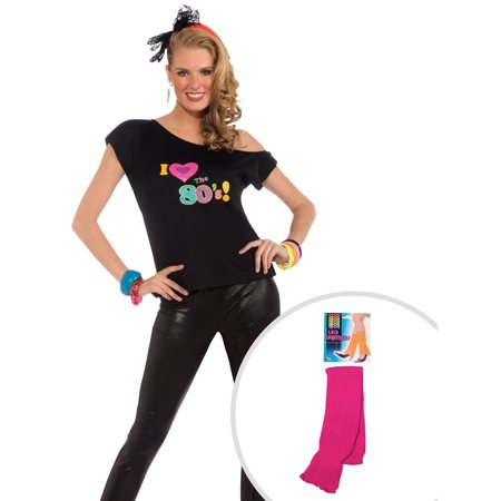 Womens I Love The 80's Shirt Adult Costume and Adult Neon Pink - Buycostumes Com Clearance