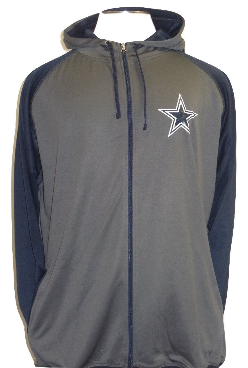 Dallas Cowboys Men's Big and Tall Raglan Full Zip Fleece Jacket by Dallas Cowboys Merchandise