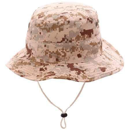 Sun Protective Outdoors Hunting & Camping Bucket Safari Hat, Digital