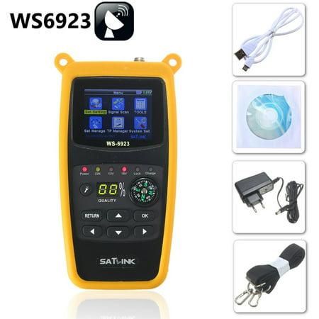 SatLink WS-6923 LCD DVB-S Professional Digital Satellite Signal TV Receiver Meter Finder FTA (Fta Digital Satellite)