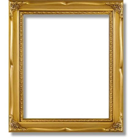 Solid Wood Poster Frame 16x20 Gold Border 322