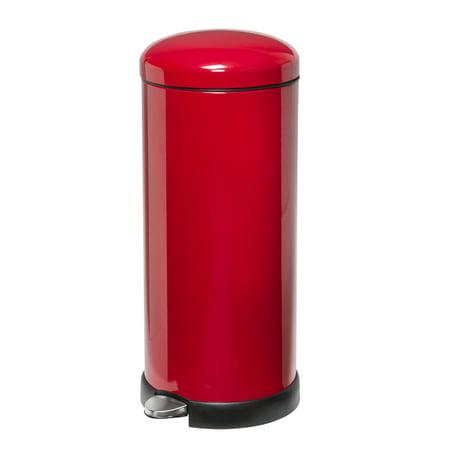 San Jamar KA4400 Red Round KatchAll Flatware Retriever for 44 Gal. Trash Can