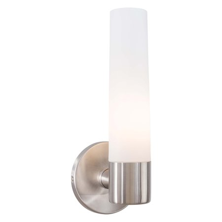 George Kovacs Saber 1-Light Bathroom Wall Sconce - 4.75W in. Brushed Stainless Steel