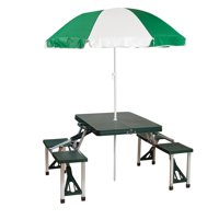 Deals on Stansport Folding Picnic Table with Umbrella