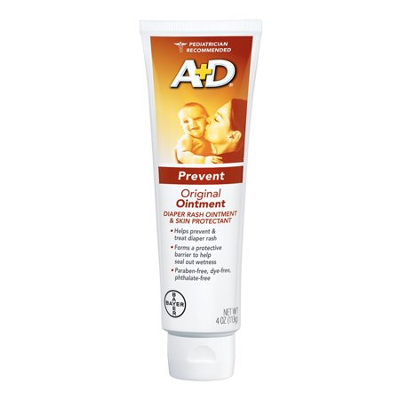 (2 Pack) A+D Original Diaper Rash Ointment, Skin Protectant, 4 Ounce