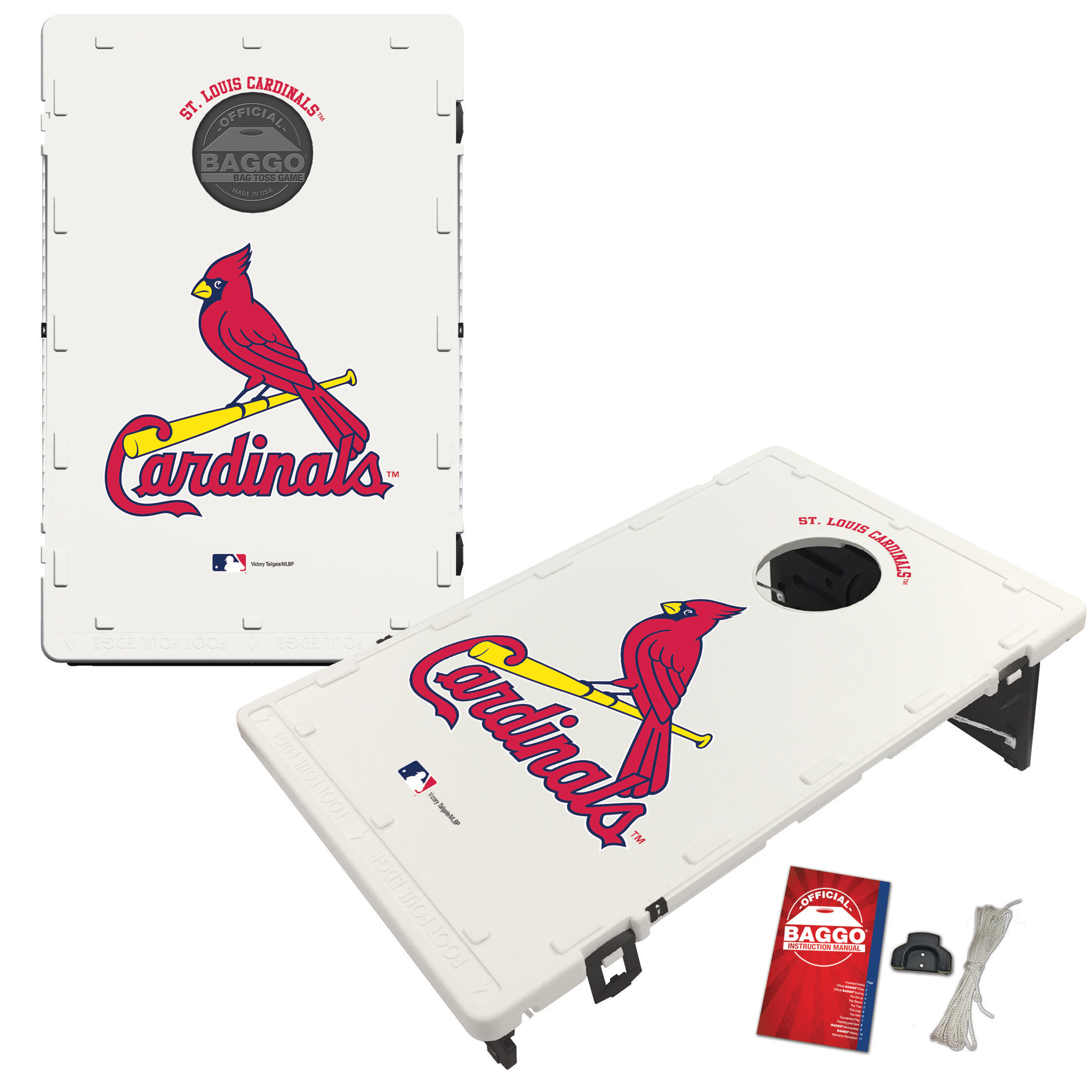St. Louis Cardinals 2' x 3' Classic Design BAGGO Bean Bag Toss Game - No Size